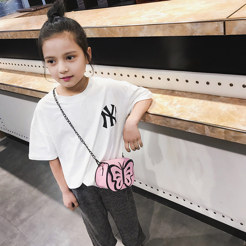 2019 Summer New Style Children Butterfly Chain Bag Shoulder Bag Shoulder Bag Versatile Multi-Purpose Versatile