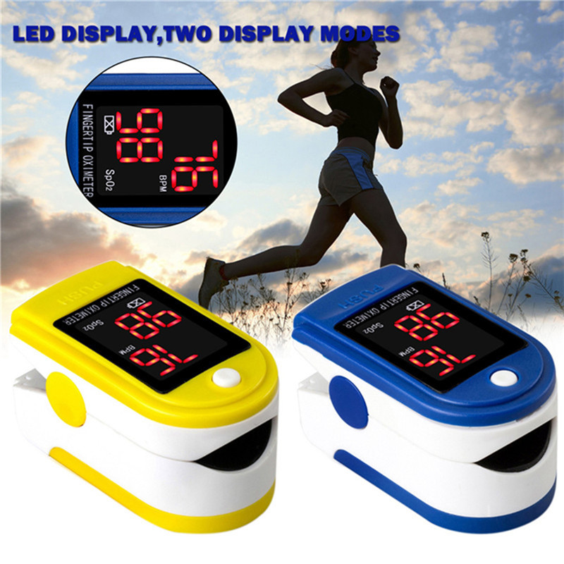 Pulse Oximeter Fingertip Blood Oxygen SpO2 Monitor Health Care Sports Exercise Monitoring with Digital LED Display