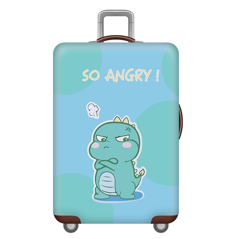 Cute 3D Fish Pattern Luggage Protector Travel Luggage Cover Trolley Case Protective Cover Fits 18-32 Inch