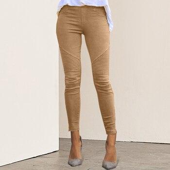 Dihope 2020 New Women Jeans Legging Blue Striped Print Legging Women Imitation Jean Slim Fitness Legging Elastic Seamless Jeans 1