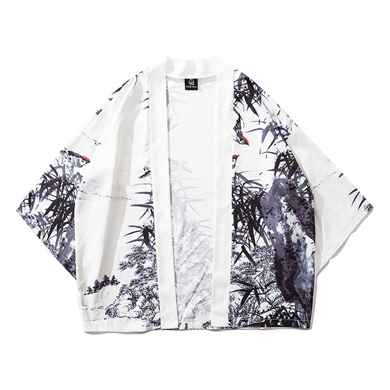 Traditional Asia Clothes For Male Open Shirts Women Coat Japanese Fashion Men Printing Shirt Kimono Cardigan Streetwear
