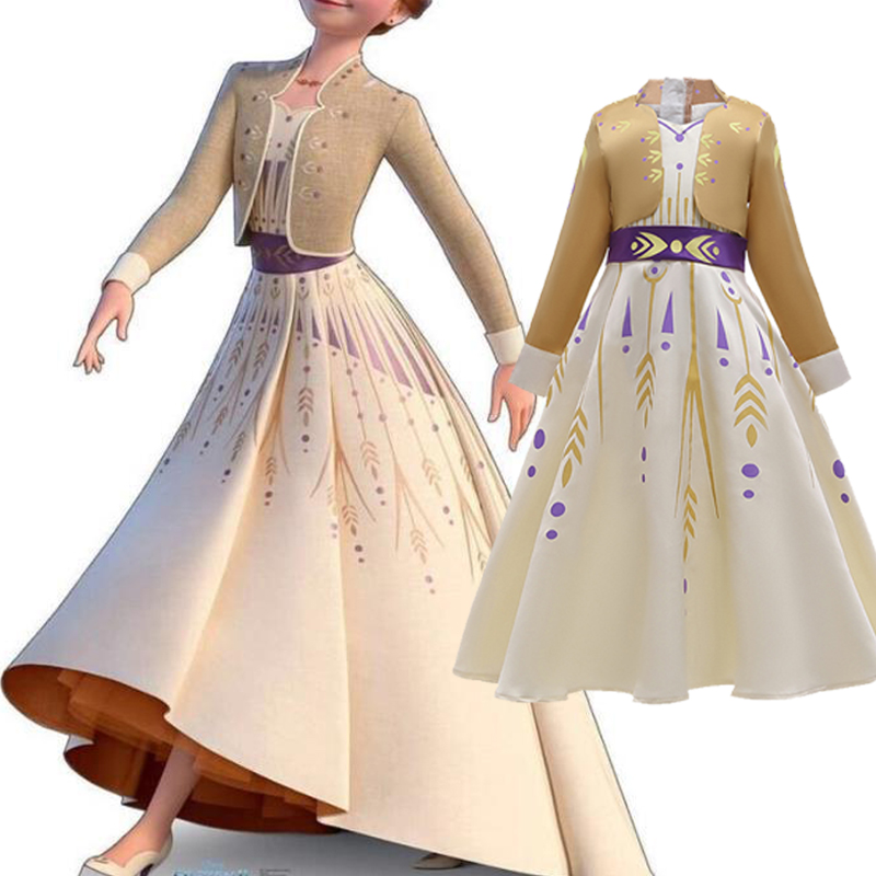 Frozen 2 Princess Anna Shoes Boots Girl Props Cosplay Halloween Party Festival