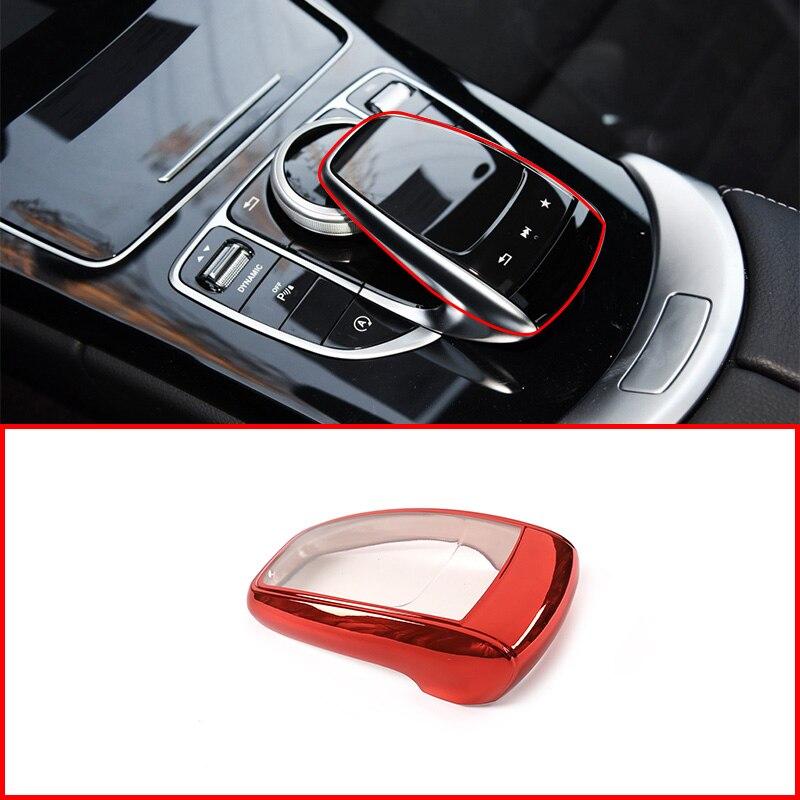 Mercedes Benz C E GLC GLS G V sınıf W205 W213 X253 X167 2015-2019 araba TPU merkezi kontrol fare koruyucu kapak Trim