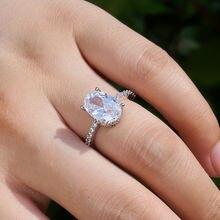 Элегантные большие бриллиантовые обручальные кольца ustar для