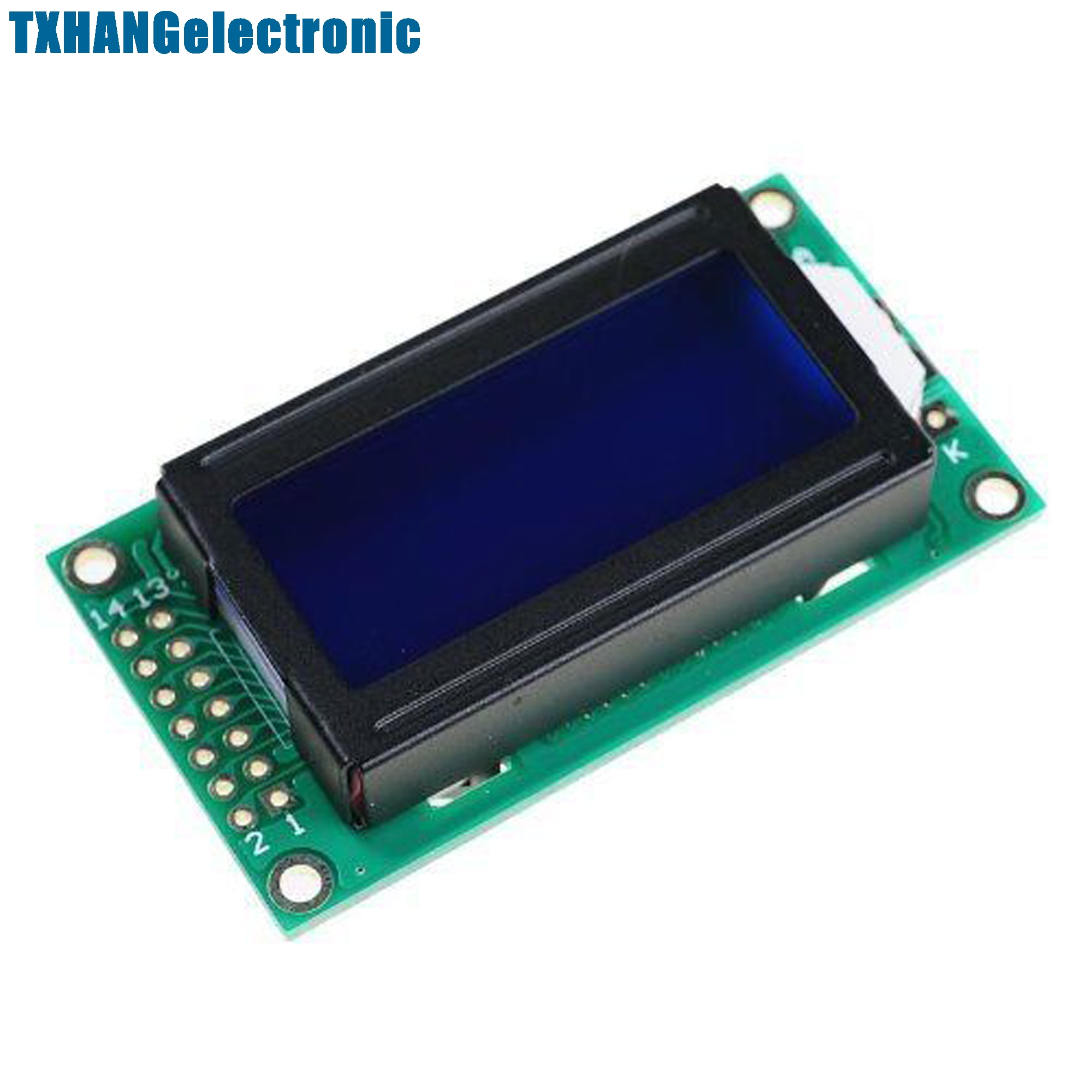 1pcs 0802 8X2 Characters LCD Module Blue Backlight Diy Electronics