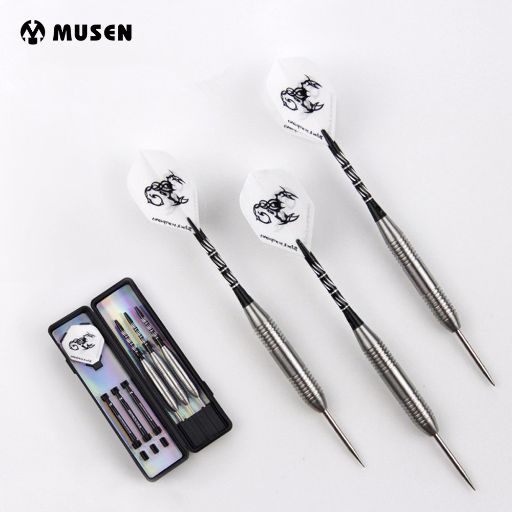High Quality 3pcs/lot About 28g Stainless Steel Tip And Marked Aluminum Shaft Darts With White Scorpion Dart Flight