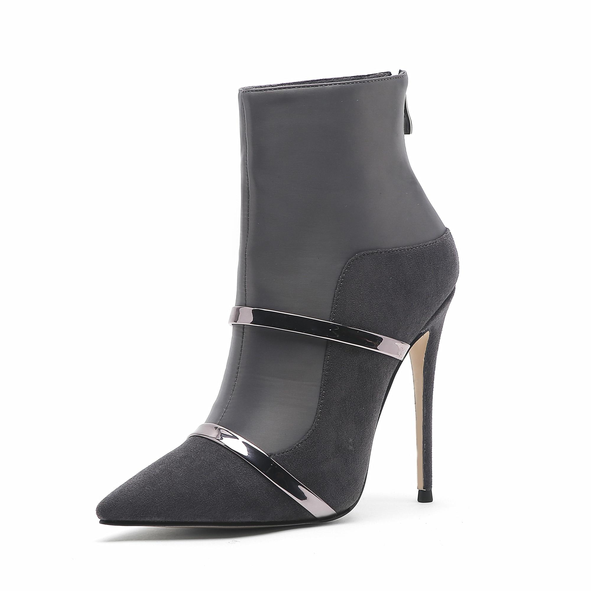 Krazing Pot/ботинки из натуральной кожи; Стильные Теплые ботильоны с круглым носком на среднем каблуке с заклепками и пряжкой в британском стиле;... - 4