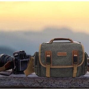 Image 3 - Sling slr fotografia digital bolsa de ombro homem/mulher ao ar livre travelwaterproof náilon câmera mensageiro bolsa para lente da câmera