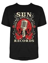 Gildan Men T shirt Sun Records Electric Mic Music For Tshirt  funny t-shirt novelty tshirt man