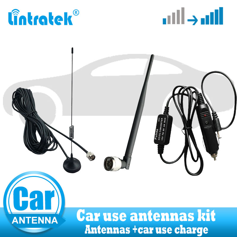 Lintratek Car Use 2g 3g 4g Signal Repeater Antennas Set Suit For CDMA GSM DCS AWS PCS WCDMA Cell Phone Signal Booster Amplifer