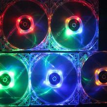 PC Computer Fan Case Cooling Fan Unit Fan With LED Fan Lights Classis Heat Dissipation T1M4