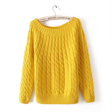 New fashion solid color womens sweater. Fashion twist sweater  sweaters 2019 women Loose for