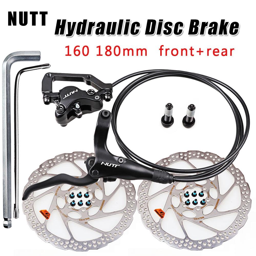 Hydraulic Disc Brake Calipers bike Front Rear Mechanical pull HS1 Rotors 160//180