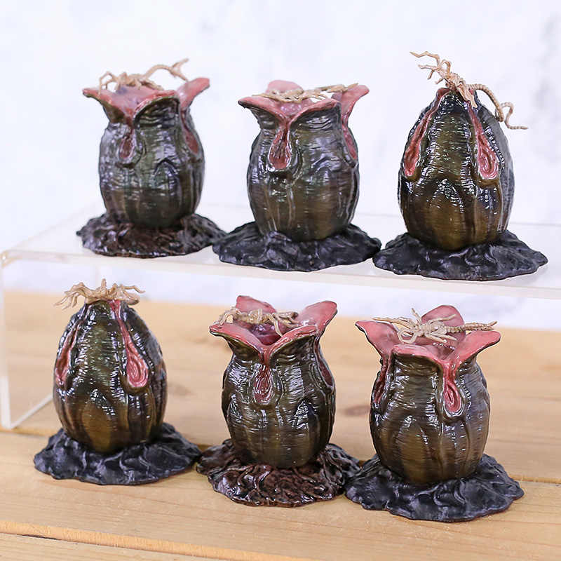 Alien Perjanjian Alien Telur & Faceguard Indah Mini Seri Figure Collectible Doll Toy Set