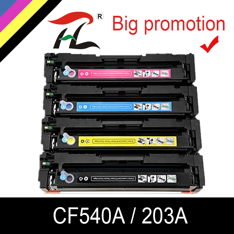 HTL Compatible 203a Toner Cartridge For HP CF540a CF541a CF542a CF543a M254dw 254nw MFP M281cdw 280nw