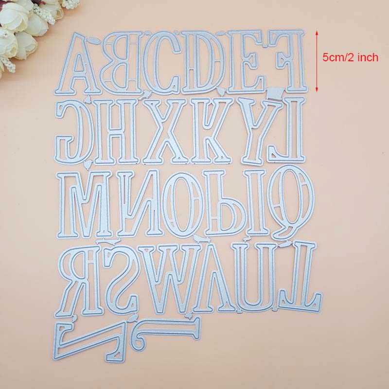 5CM 2 inch Large Big Alphabet Letters Metal Cutting Dies Stencils for DIY Scrapbooking 26  New