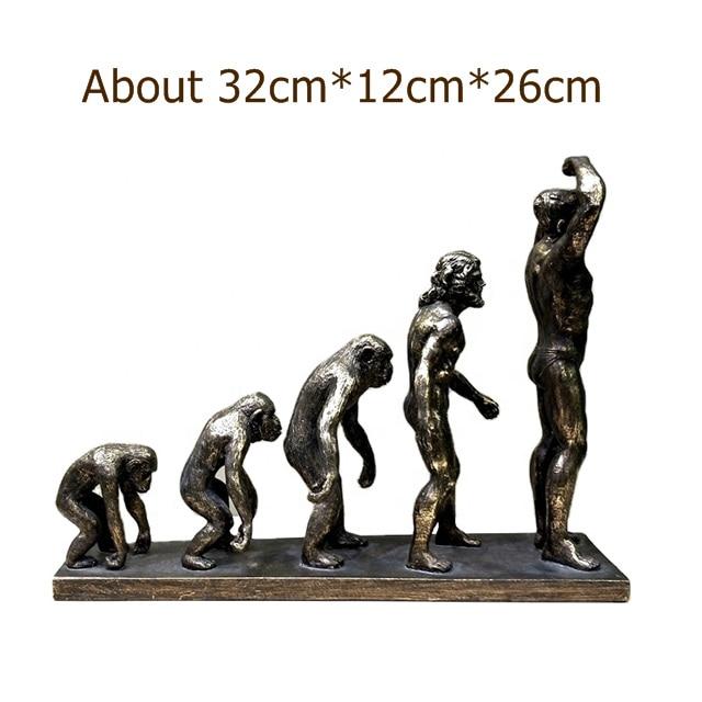 Human Evolution Resin Sculpture