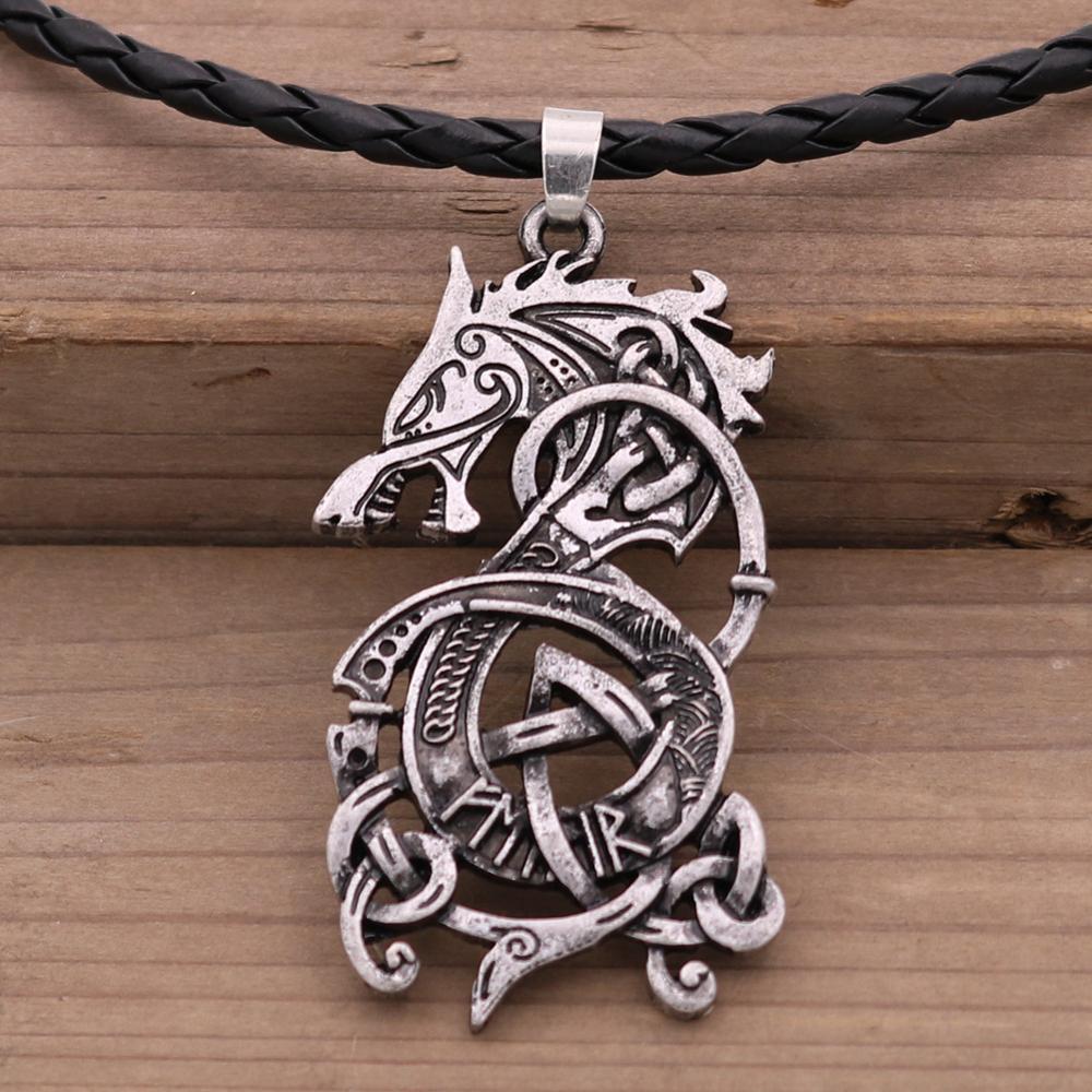 Norse Дракон-Викинг кулон готические мужские ожерелья Северный амулет-талисман ювелирные изделия