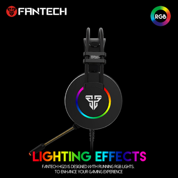 FANTECH HG23 Headphone Personalize With Octane 7.1 RGB USB Just Wired Gaming Headset Alloy Earmuffs For PC PS4 Gaming Headphones 2
