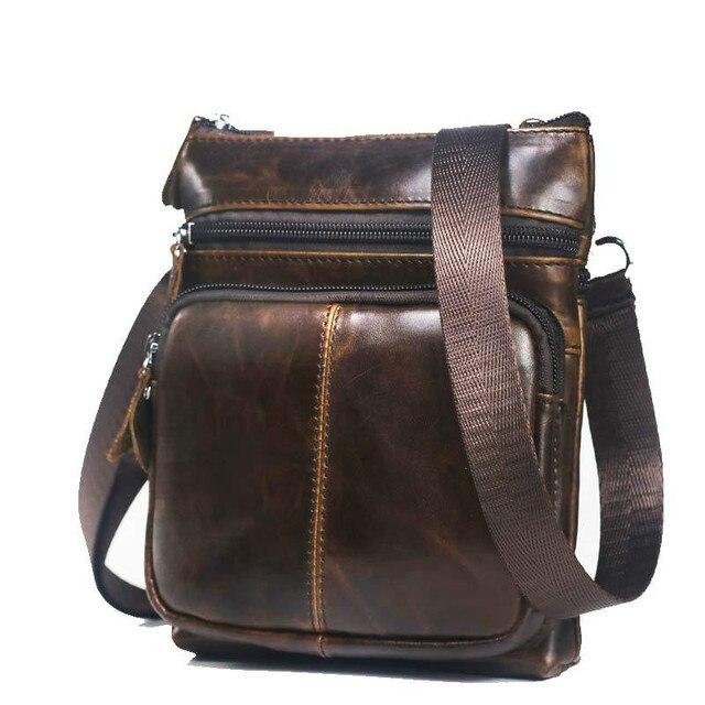 Genuine Leather Crossbody Bag
