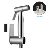 Handheld Easy Install Bathroom T Adapter Stainless Steel Multifunctional Hose Shower Head Wall Toilet Bidet Sprayer Set Faucet