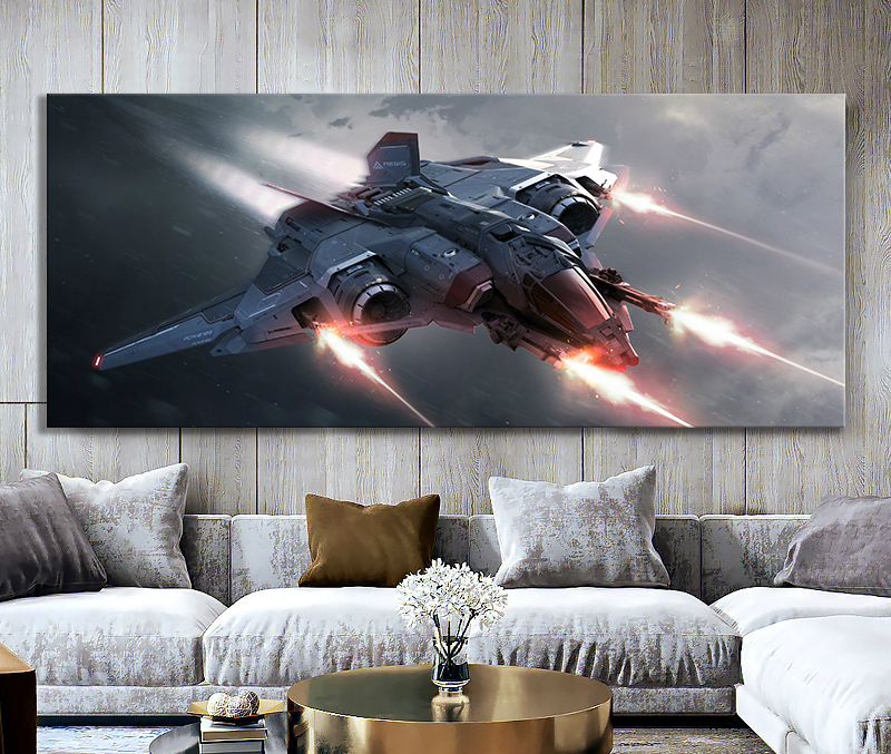 Star Citizen Video Games Art Wall Decor Paintings Spaceship Wars Movie Poster Canvas wallpaper wall papers home decor image