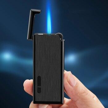 2020 New Metal Gas Lighter Turbo Lighters Smoking Accessories Butane Torch Lighter Cigar Cigarettes Lighter Gadgets For Men недорого