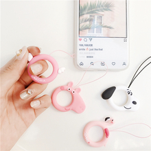 Cute Cartoon Flamingo Wrist Hand Mobile Phone Chain Straps Keychain Lanyard for Phones Camera USB Flash Drive MP4 PSP DIY Rope