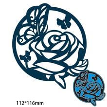 112*116 мм Цветы Кружева Круг новые металлические штампы для декора карты DIY трафарет для скрапбукинга бумажный альбом шаблон штампы