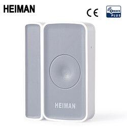 Heiman z-onda janela da porta sensor zwave ímã detector de alarme sem fio para casa onda z eu868mhz