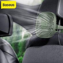 Baseus Car Fan Car Back Seat Fan Auto Cooling Fan 360 Degree 1000mAhjongPortable Cooler Air Use Desktop Fan Two Grade Wind Speed