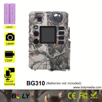 little hunting camera using18650 batteries 18MP 940nm LED low glow night vision cheap tree support Boly solar panel