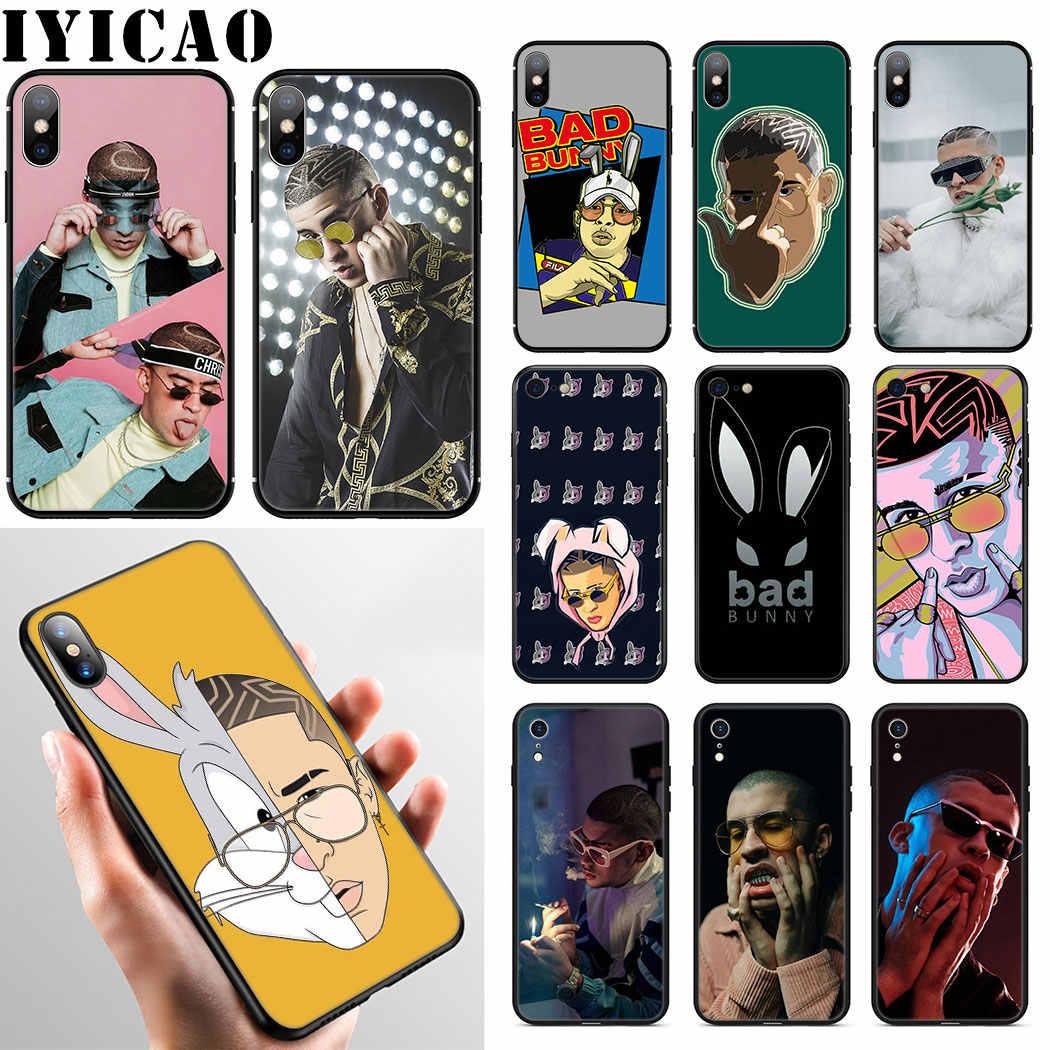 IYICAO Ca Sĩ Reggae Xấu Thỏ Mềm Mại Ốp Lưng điện thoại Iphone XR X XS Max 6 6S 7 8 Plus 5 5S SE