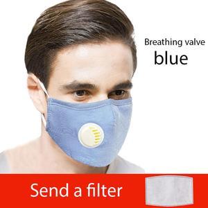 Image 5 - 1 Pc Unisex Mode Adem Mond Masker Ademend Maskers Carbon Filter Blauw Roze Grijs
