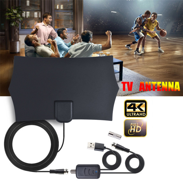 Full HD Digital HDTV Antenna TV receiver with Amplifier Booster DVB-T2 indoor 980 miles Clear Satellite receiver dish Aerial