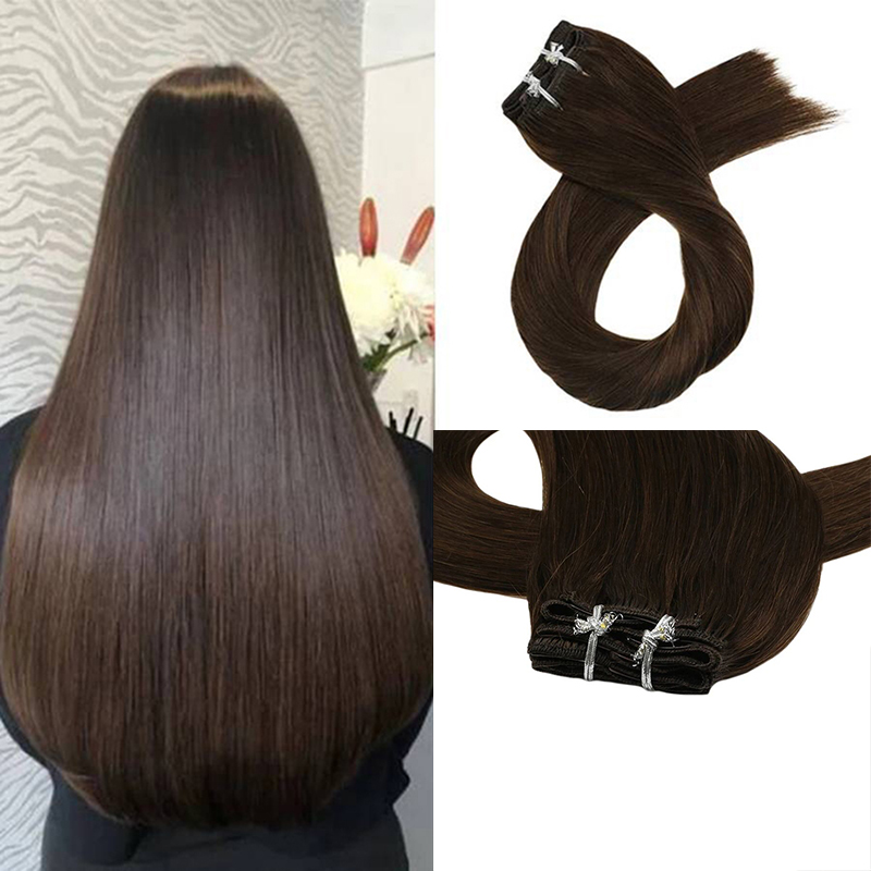 Unprocessed Human hair clip in Hair Weaves Brazilian Cuticle Aligned Hair for woman