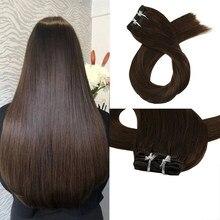 high quality Human hair clip in Hair Weaves Brazilian Cuticle Aligned Hair for woman