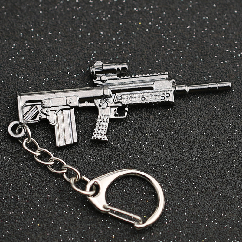 CS GO CSGO CF Keychain L85A1 SA80 Rifle Gun Weapon Counter Strike Game Cross Fire Keyring Key Chain Ring Army Jewelry Wholesale