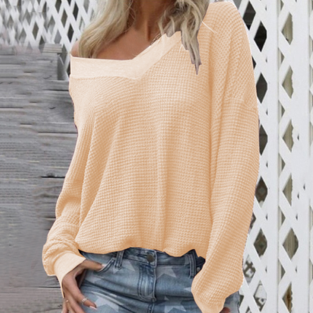 Adisputent 2020 New Spring Women Sweater Female V-Neck Sweaters Ladies Pullovers Long Sleeve Blouse Sweater Irregular Size S-XL