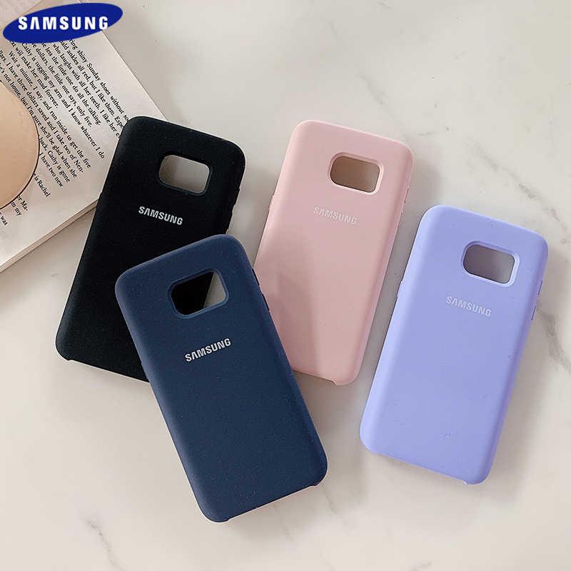 Coque de protection arrière en Silicone pour Samsung Galaxy s7, originale et soyeuse, de haute qualité, douce au toucher, avec logo