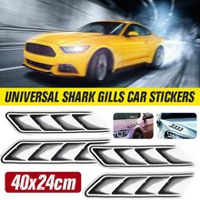 2X Universal Car 3D Sticker Shark Gills Air Vent Car Body Stickers Film Decoration Styling For VW For BMW For Benz(China)