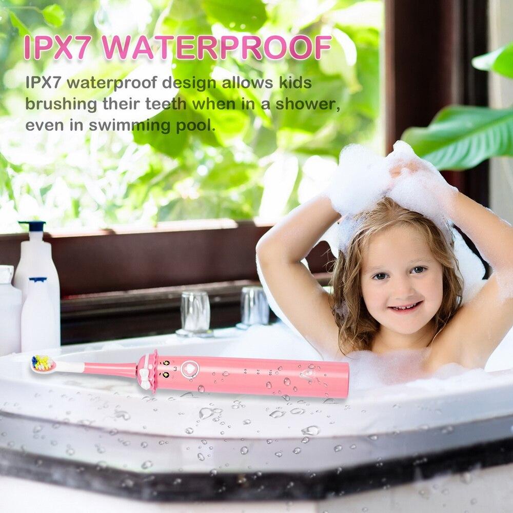 Crianças escovas de dentes elétrica sonic clareamento