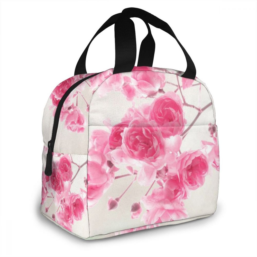NOISYDESIGNS Fashion Insulated Lunch Bags Flowers Printing Cold Bales Thermal Family Picnic Food Box Kids Women Bolsa Termica