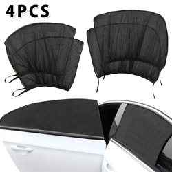 4pcs Car Styling Accessories Sun Shade Auto UV Protect Curtain Side Window Sunshade Mesh Sun Visor Protection Window Films