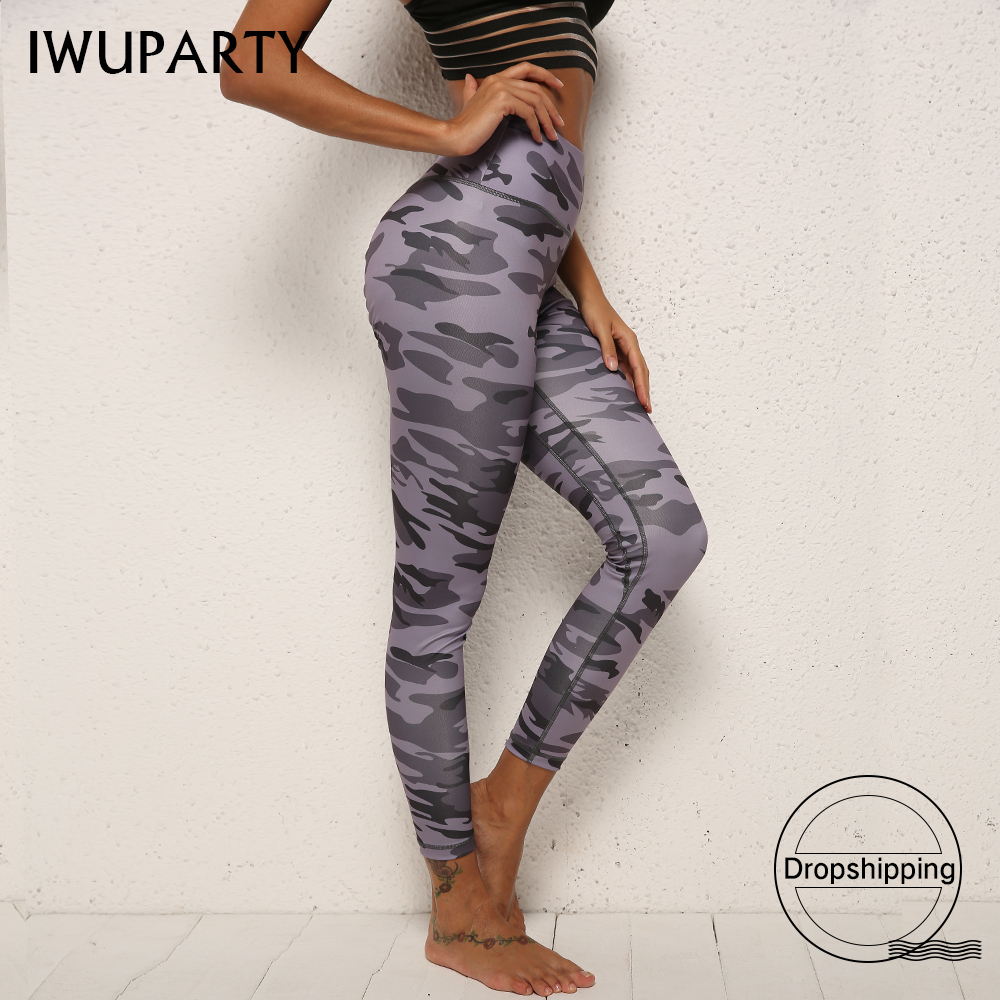 Camouflage Push Up Workout   Leggings   Trousers Stretch Athletic Sportswear Women Booty Scrunch Fitness Pants Jogging Butt Folding