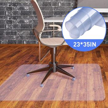 "23x35"" Rectangle PVC Floor Mat Transparent Protector 1.5mm Thick For Hard Wood Floor Home Office Rolling Chair Desk Non-slip Mat"