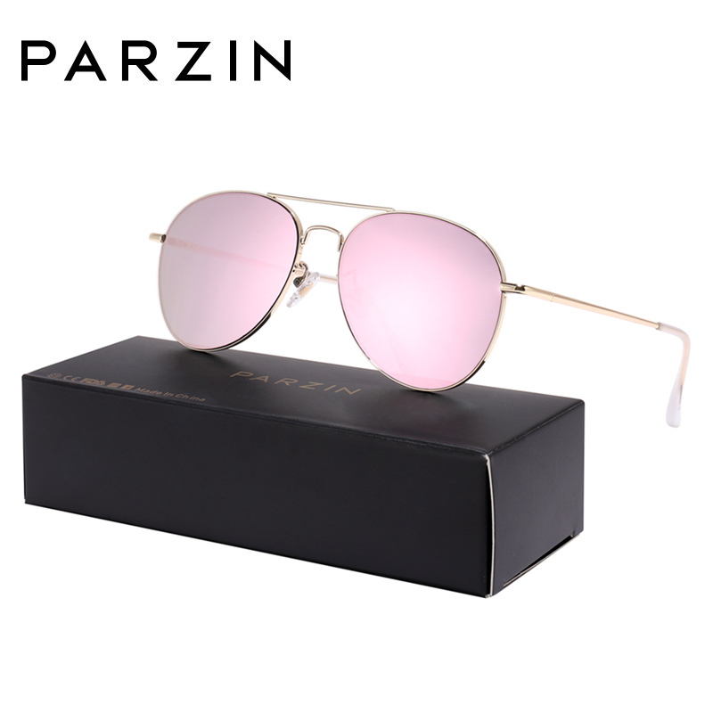 PARZIN Sunglasses Women Classic Pilot Sun Glasses For Men High Quality Alloy Frame Ladies Shades UV 400 53 mm  Driving Glasses-in Women's Sunglasses from Apparel Accessories