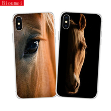 Bioumei  phone case for iPhone XR XS Max X 5 6 6S 7 8 Plus ride horse Soft TPU Back Cover Shell 80