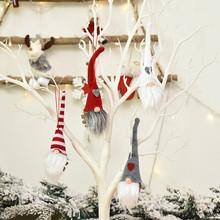 Ozdoby na choinkę święty mikołaj lalki ozdoby choinkowe do dekoracji domu Navidad 2020 nowy rok kerst Natal tanie tanio XJZ-01 Bez pudełka christmas tree home decorations christmas decoration christmas ornaments