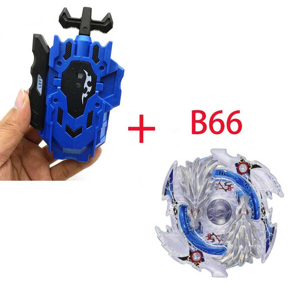 Волчок Beyblade BURST B-130 B-117 с пусковым устройством Bayblade Bay blade металл пластик Fusion 4D Подарочные игрушки для детей - Цвет: B66
